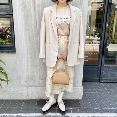淡色カラーペイントスカート【211-4015】