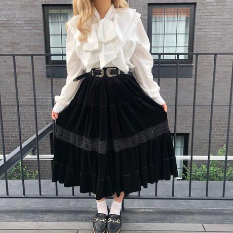 ブラックベロアヴィンテージスカート【202-4014】