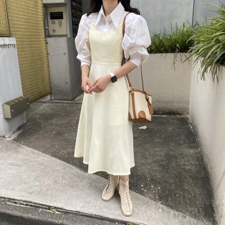 クロスデザインレイヤードワンピース【211-6045】