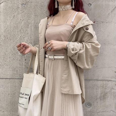 ベージュシャツジャケット【201-7001】