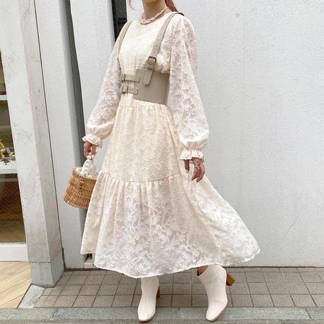 フェミニン総花柄ワンピース【202-6013】