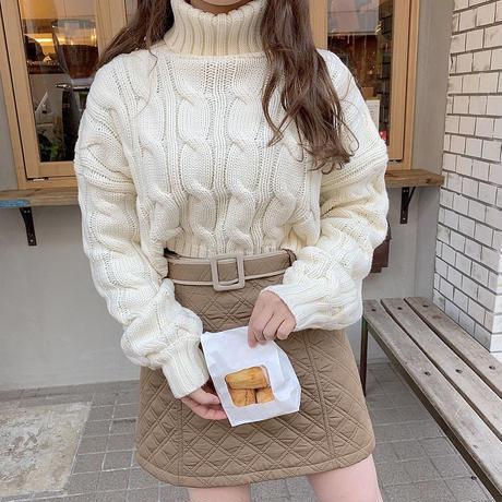 キルティング台形スカート【192-4068】