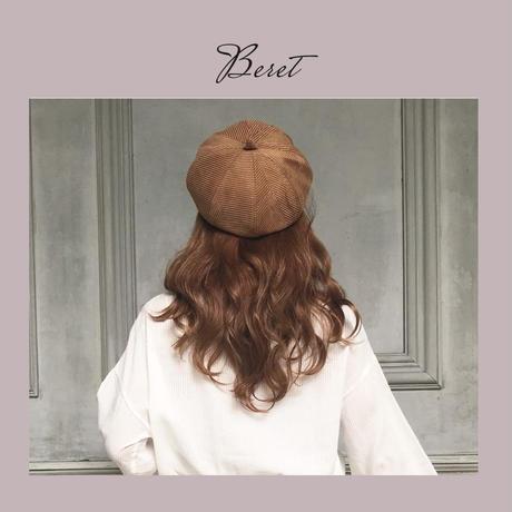 3色ベレー帽