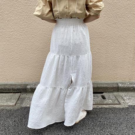 シャーリングマキシ丈スカート【211-4027】
