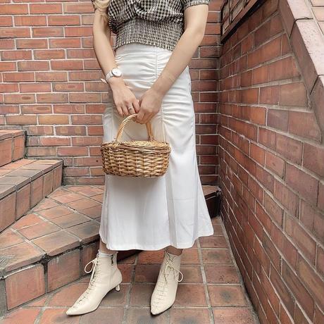 フロントギャザースカート【201-4019】