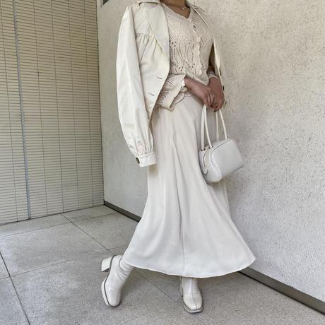 クリーミーフレアスカート【211-4020】