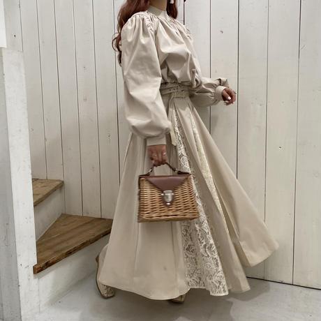 ボックスプリーツレーススカート【211-4001】