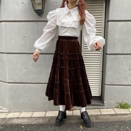 ベロアクラシカルティアードスカート【202-4007】