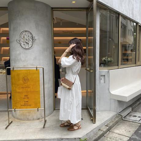 プリーツネックボリュームワンピース【211-6052】