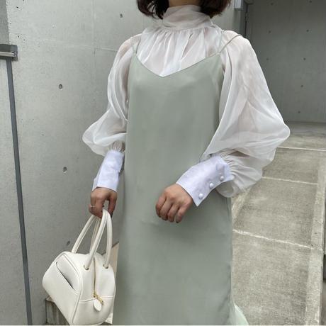 バッククロスサテンワンピース【211-6046】