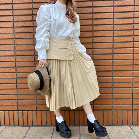プリーツデザインスカート【201-4002】