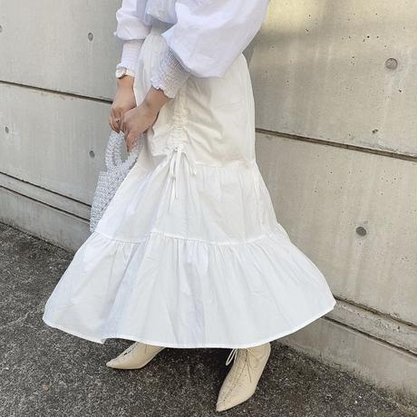 サイドリボンティアードスカート【201-4015】