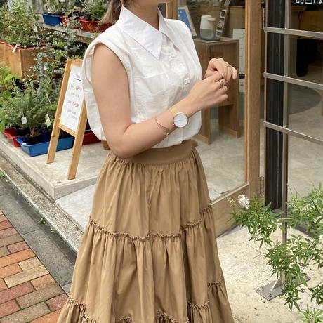 ホワイトノースリーブシャツ【211-1054】