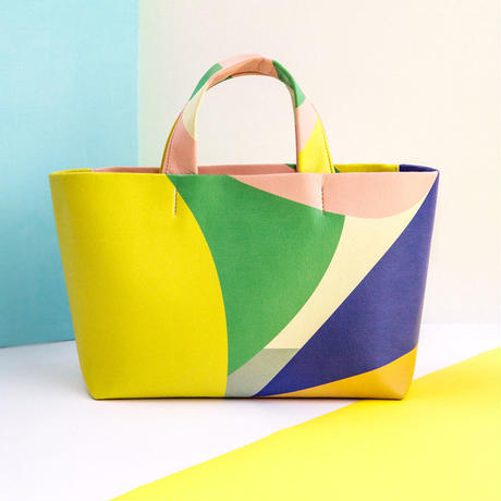 Mini Tote Bag - Pattern YLBLU