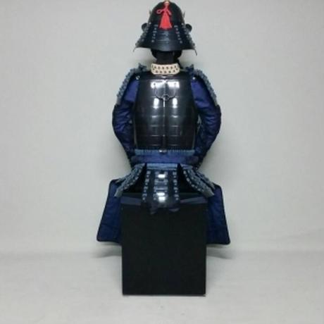 【O-064】●紺糸威黒桶側二枚胴具足(手時代塗)