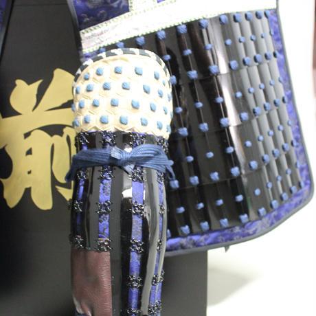 【O-059】●濃紺糸威朱桶側二枚胴具足