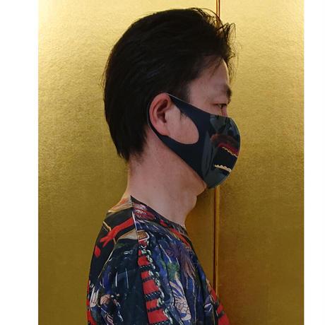 リアル面頬マスク    (黒)