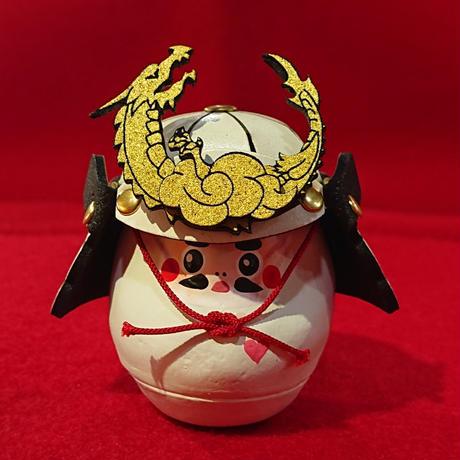 縁起物    miniサムライ達磨    (白色)