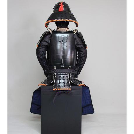 【O-049】黒糸威黒艶消鋲綴二枚胴具足(厳星兜)