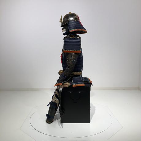 【O-015】▲濃紺糸威当世小札二枚胴具足(のうこんいとおどしとうせいこざねにまいどうぐそく)