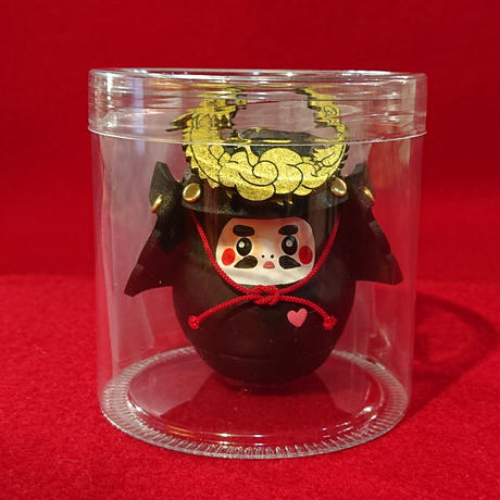 縁起物   miniサムライ達磨   (黒色)