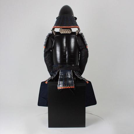 【O-052】紺糸威黒艶消鋲綴二枚胴具足(椎形兜)