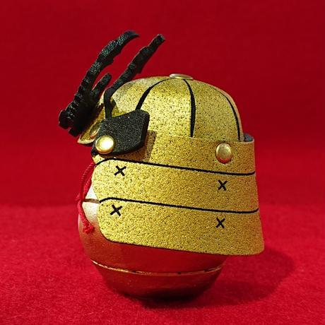 縁起物    miniサムライ達磨    (金色)