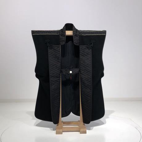 【B-052】陣羽織 (黒羅紗黒襟)