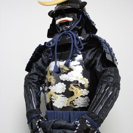 【O-074】●濃紺糸威雲龍二枚胴具足