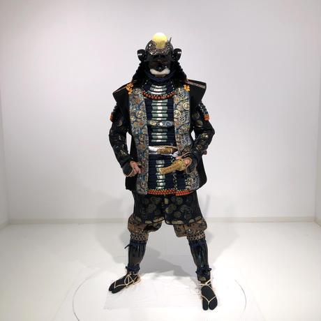 【B-053】陣羽織 (黒羅紗金襟)