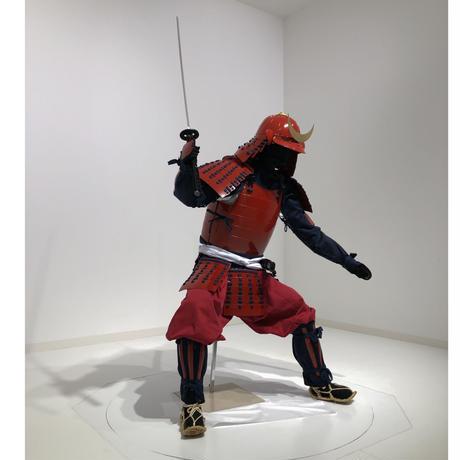 【O-076】濃紺糸威赤桶側二枚胴 時代祭りセット!