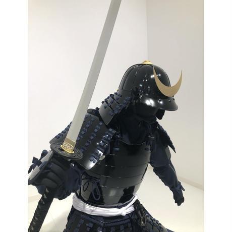 【O-075】濃紺糸威黒桶側二枚胴 時代祭りセット!