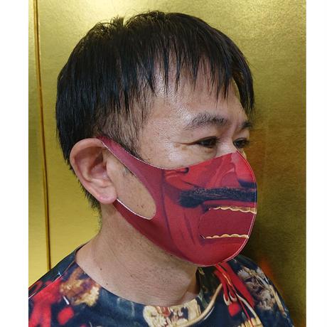 リアル面頬マスク    (赤)