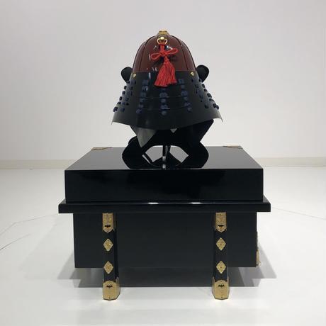 【O-059-K】濃紺糸威朱桶側二枚胴具足(兜のみ)