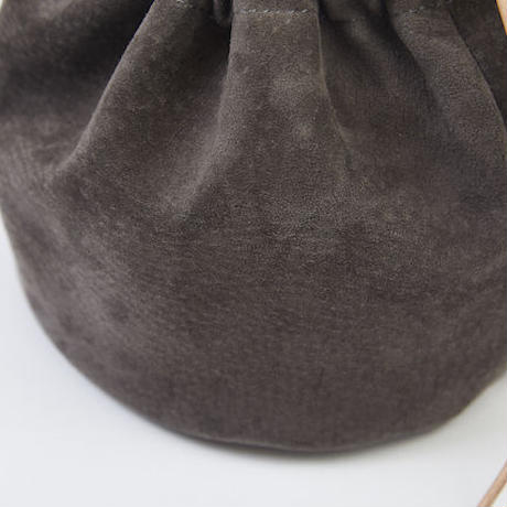 DRAWSTRING POUCH|Suede All Black