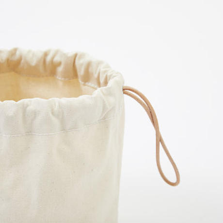 DRAWSTRING POUCH|Natural