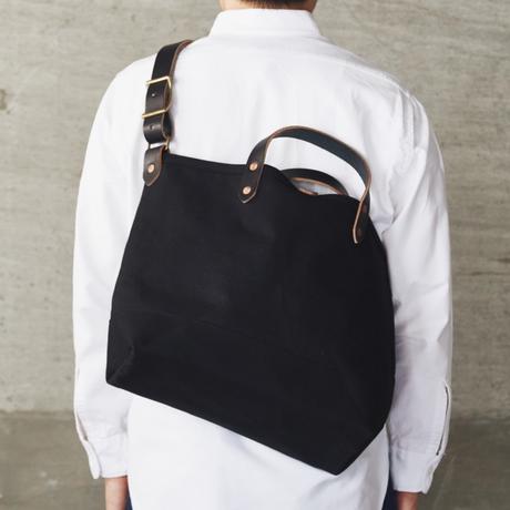 BOAT TOTE|Shoulder Strap All Black