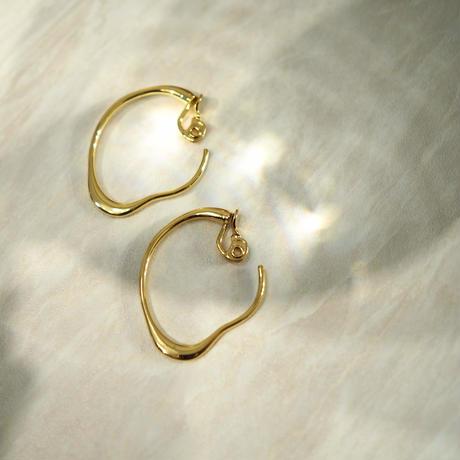 modern hoop - clip-on earrings -