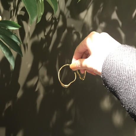 Modern hoop -pierced earrings-