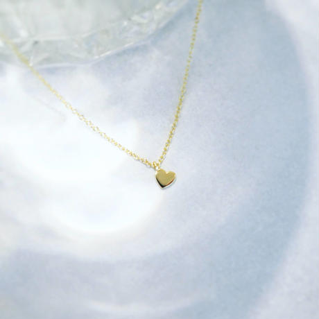 minimal heart - necklace - / silver925