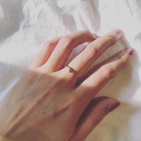 minimal heart - ring - / Silver925
