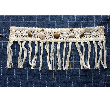 Cotton fringe choker