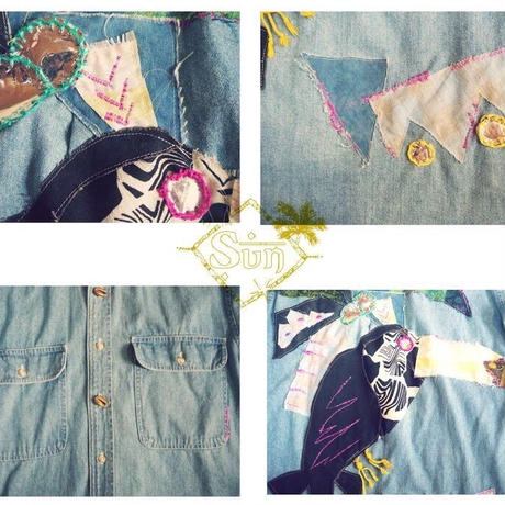 Parrot remake denim jacket