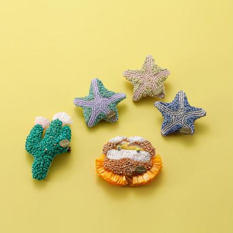 Starfish brooch blue