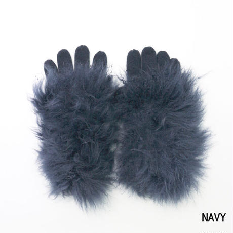 Cashmere fur gloves