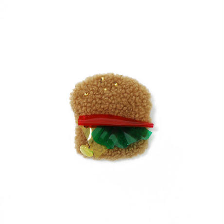 Burger brooch
