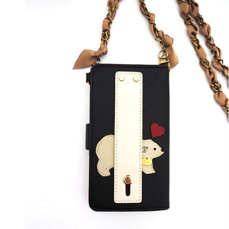 Heart WHITE BEAR cell phone case