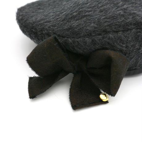 【受注生産】Ribbon wool beret