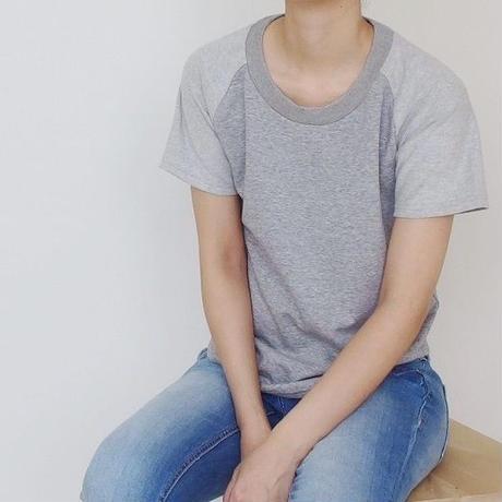 リラックスラグラン半袖Tシャツ(グレー)
