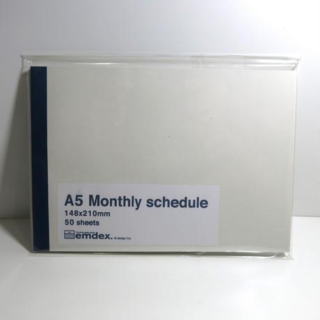 emdex  A5  Monthly schedule